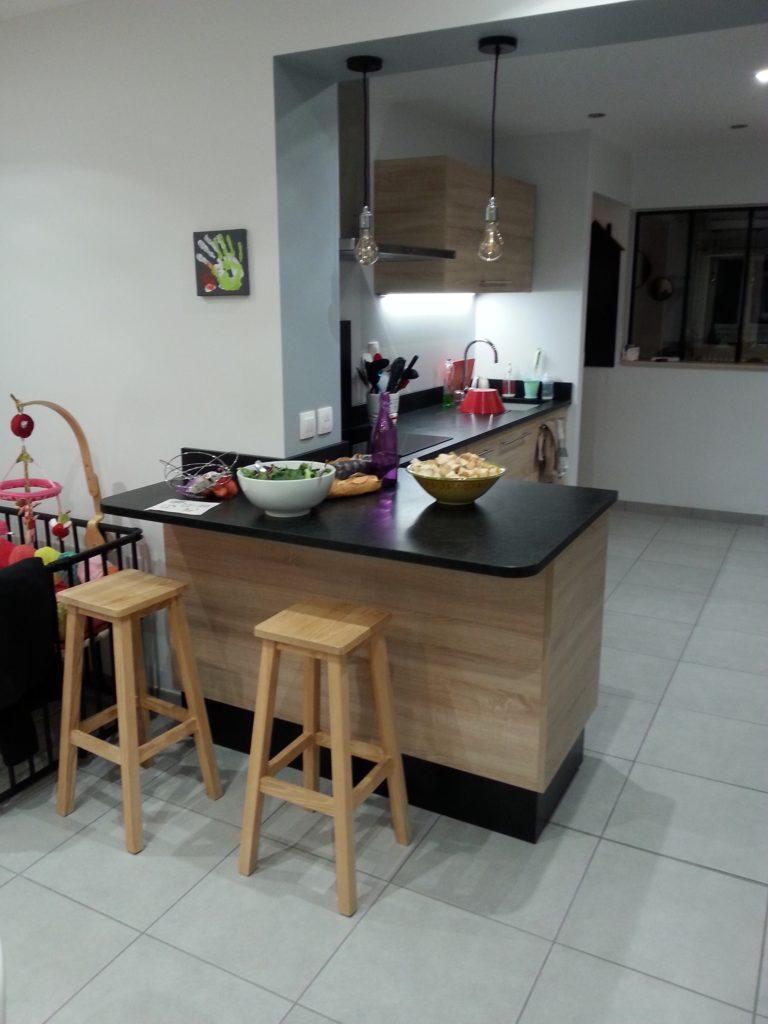 Cuisine Chêne de Bardolino et Granit Noir – MD Design