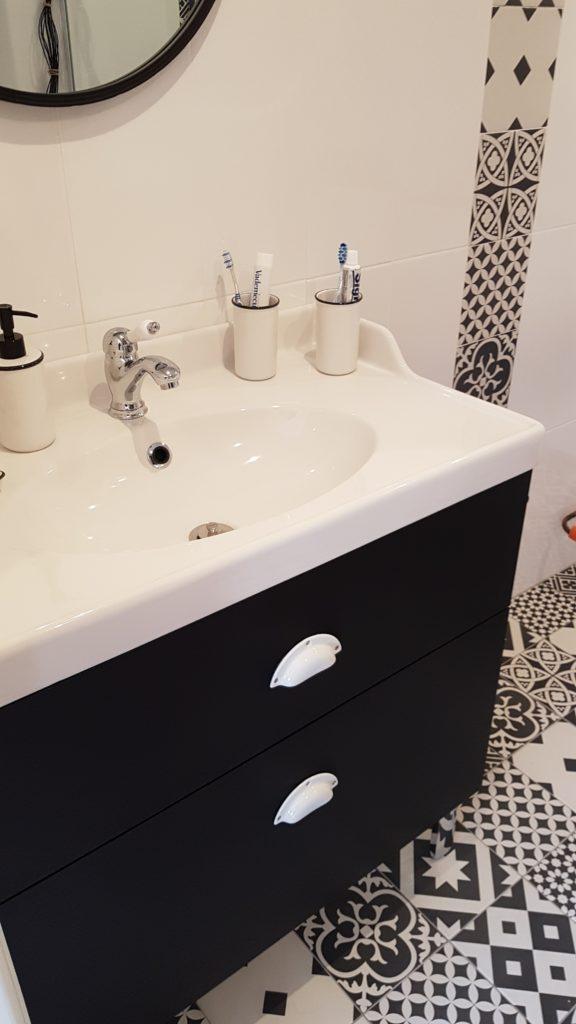 Meuble sous vasque sur mesure