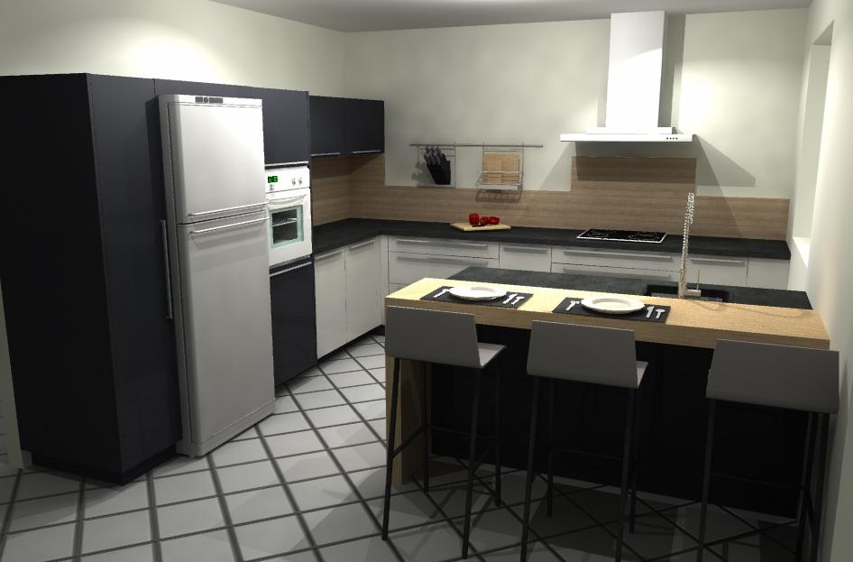 Présentation 3D de notre conception de cuisine