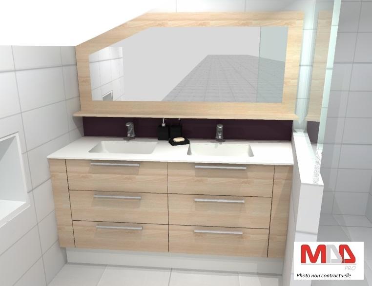 Image 3D conception de salle de bains