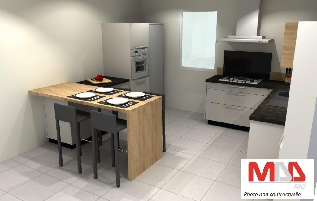Conception 3D d'une cuisine