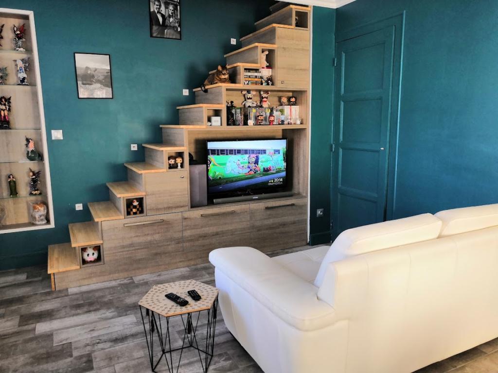 Fabrication de meuble TV Bibliothèque sur mesure