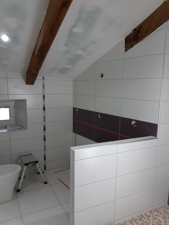 Salle De Bain Sous Pente salle de bains sous pente - fabrication française de mobilier